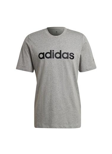adidas adidas GL0060 M LIN SJ T Erkek T-Shirt Gri